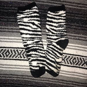 Fluffy stripped socks (2 pairs)